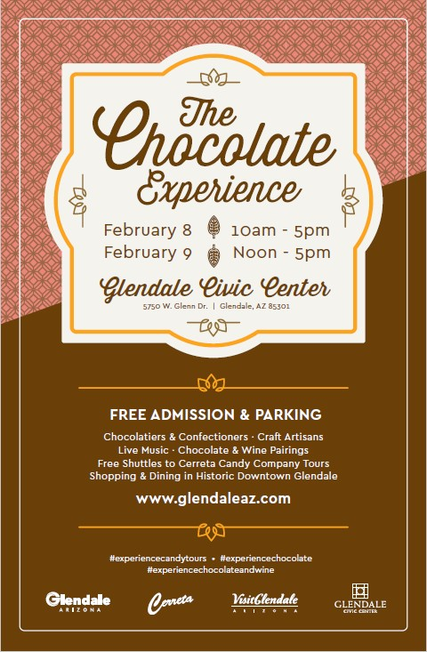 The Chocolate Experience Downtown Glendale Arizona February 8 + 9