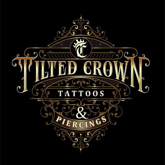 tilted crown tattoo